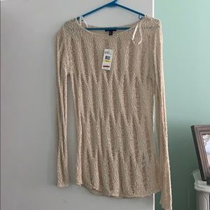 Jessica Simpson Cream Crochet Sweater Medium NWT